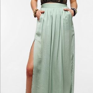 Sparkle and fade maxi skirt
