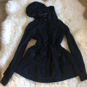 Lululemon Anorak Black Coat sz 4