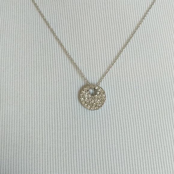Swarovski crystal circle pendant necklace 8ca552d53
