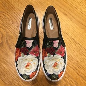 Halogen Flower Slip On Sneakers, sz 7.5