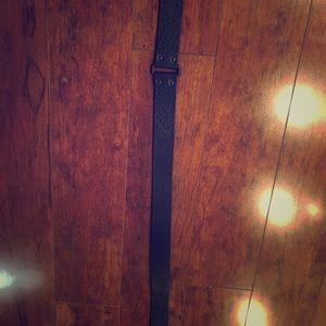 Gucci black leather belt