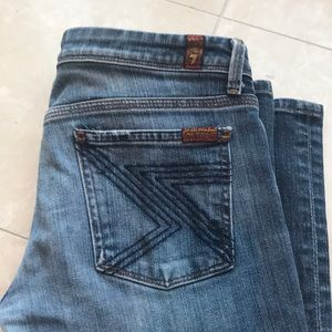 7 For All Mankind jeans, bootcut size 28 (short)