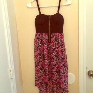 High-Low Floral Strap Dress!