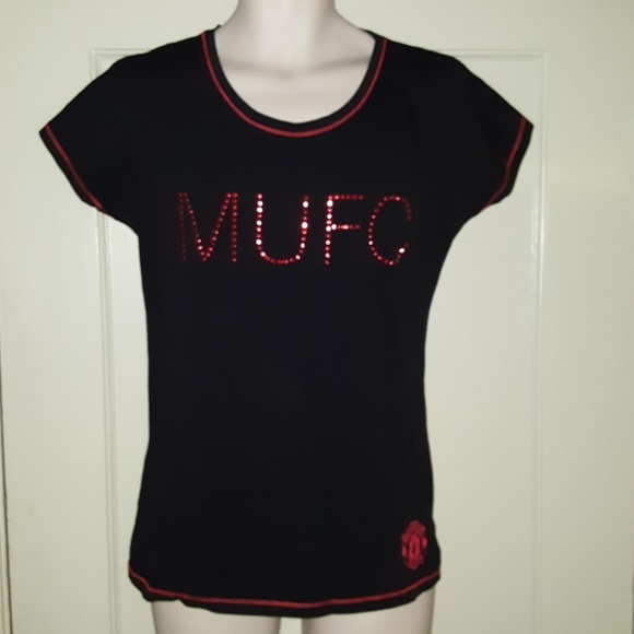 new product 6c5ca b242a Manchester United Women's Black & Red 1997 Shirt