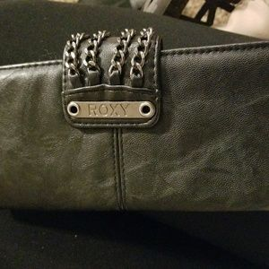 EUC Black Leather Roxy Long Wallet