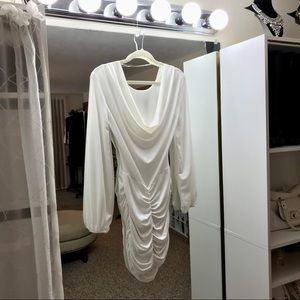 Slimming Runched Long Sleeve Dress