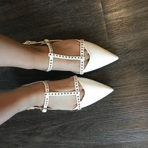 Zara Basic Collection White Flats Size 37
