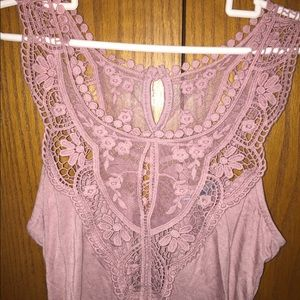 Off pink lace body suit