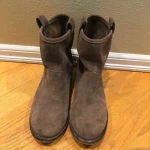 Sole Society tan suede slouchy Ankle Boots, sz 7.5