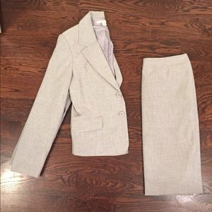Grey Suit Jacket and Skirt, Small