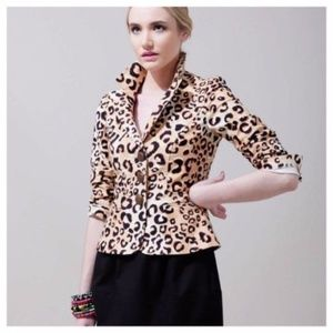 Nanette Lepore Jacket Blazer Lined Three Button 8