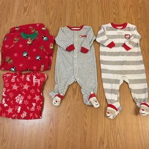 Carter's Footed Christmas Pajamas Lot 6mo