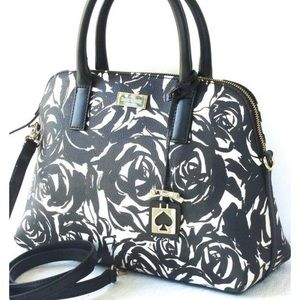 Kate Spade Black and White Rose Bag
