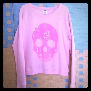 💕NWOT Victoria secret Pink skull sweatshirt💀