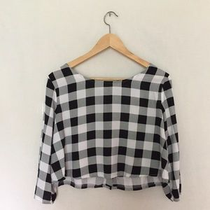 American Apparel Maddie Crop Top, checkered