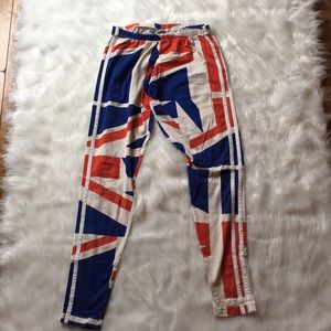 Adidas red white and blue leggings pants. Small
