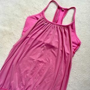 Lululemon No Limits Tank Top Solid Pink Bra 6