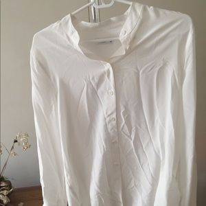 equipment white silk blouse -- never been worn
