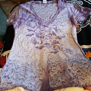 Beautiful purple V Neck T-shirt