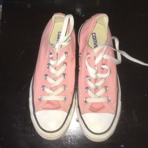 Salmon/Light Pink Low Top Converse
