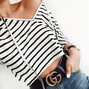 Sabo skirt striped cropped t shirt