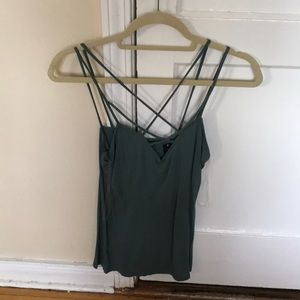 Turquoise caged top