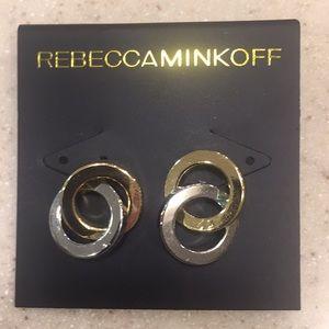 Rebecca Minkoff Two Tone NWT earrings