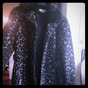 Leapord print long coat