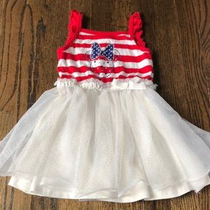 Toddler Girls Minnie Red White and Blue Tutu Dress