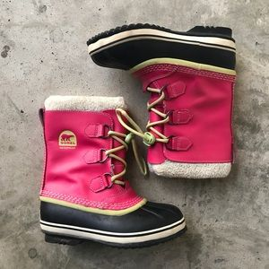 Sorel Youth PAC Snow Boots, EUC