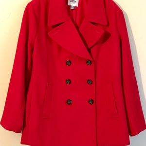 Old Navy Red Pea Coat 🧥 Size 2X