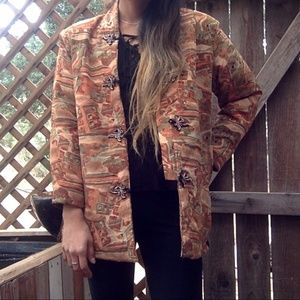 {Vintage} Reversible Quilted Jacket