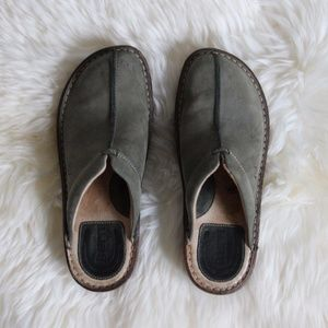 Born Suede Size 7 Slip Ons Mule Clog Sage Green