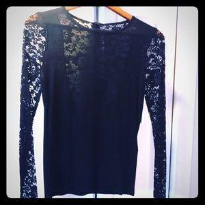 NWT very Pretty Black Lace top