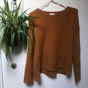 Mustard Forever 21 Oversized Pullover Sweater
