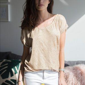 Golden Textured T-shirt