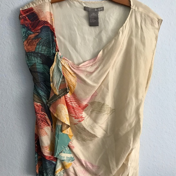 Hype Tops - HYPE | 100% Silk Blouse Size S