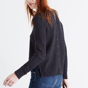 Madewell backroad button-back sweater XS
