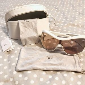 White Wraparound Christian Dior sunglasses
