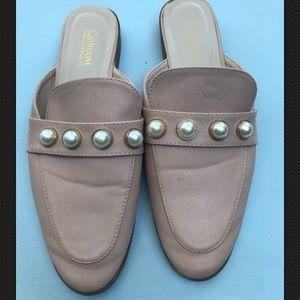 Catherine Malandrino Pearl Slip on Loafer Slides
