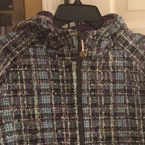 Lululemon size 10 purple tweed coat