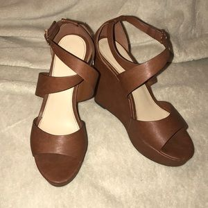 Forever 21; Tan wedges