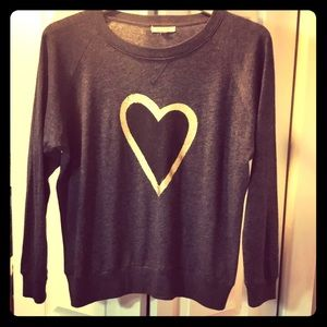 NATION LTD Heart sweatshirt XS