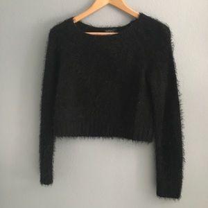 Fuzzy Crop Top Sweater