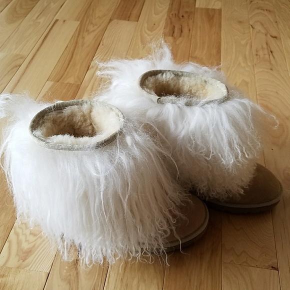 5cbcc470f9d UGG Australia Sand Long Hair Sheepskin Boots