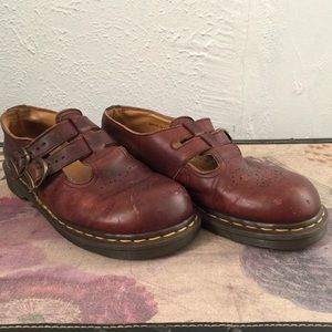 vintage maryjane doc martens shoes double-strap