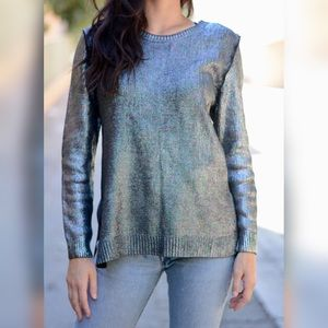 Silence + Noise Iridescent Coated Sweater