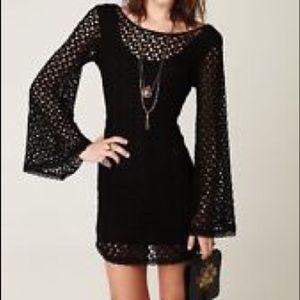 NWT Free People Crochet Bell Sleeve Dress