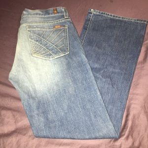 Sz30 seven 7 for all mankind light wash jeans