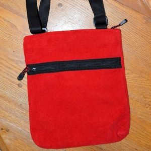 Red and Black Felt Old Navy Bag
